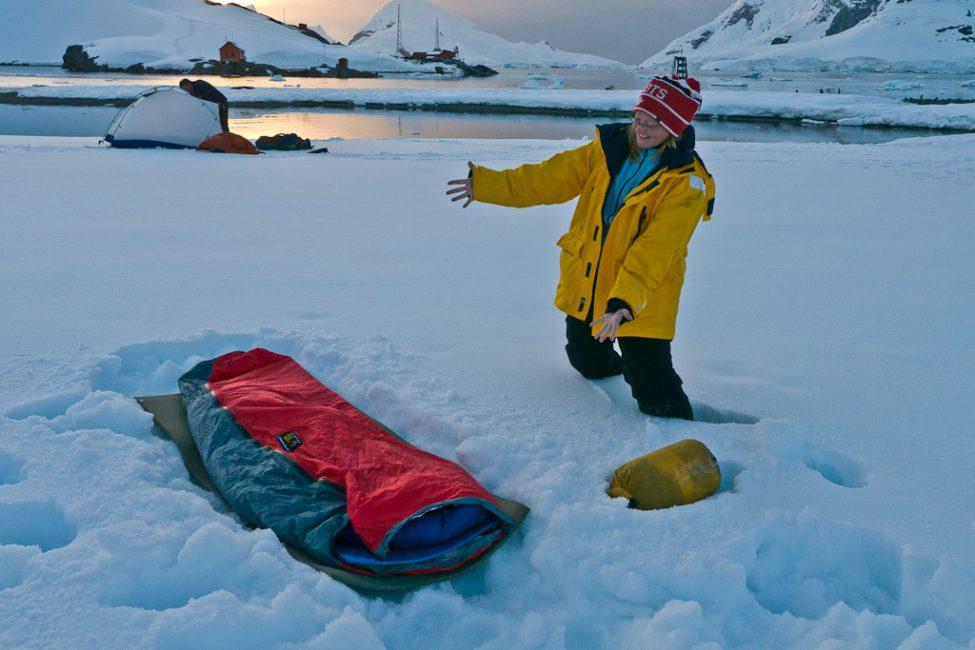 antarctica camping paradise bay