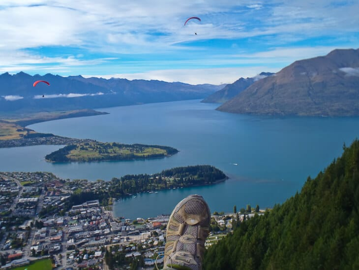 paragliding Queenstown view from above