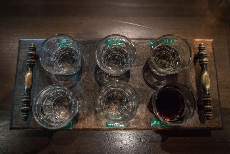 park distillery banff winter drinks