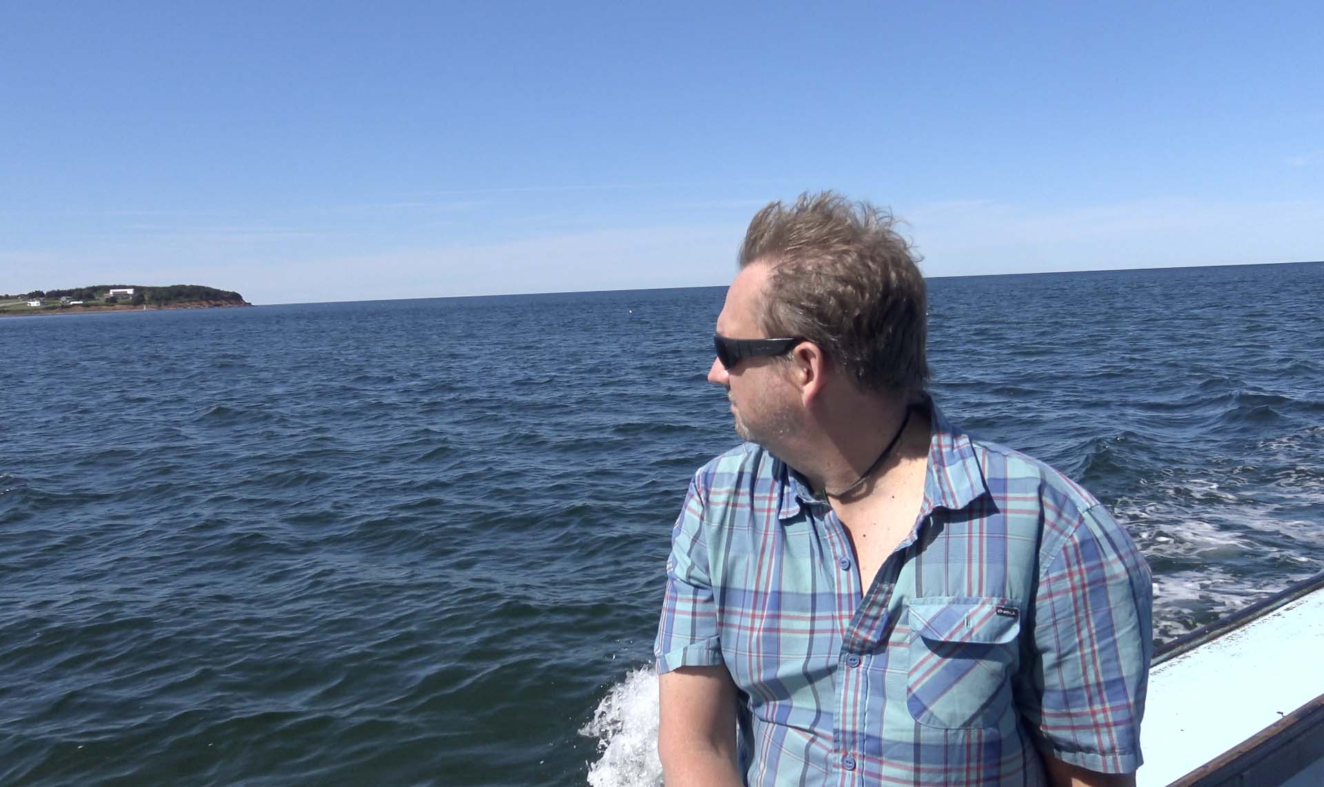 dave on boat tour in prince edward island
