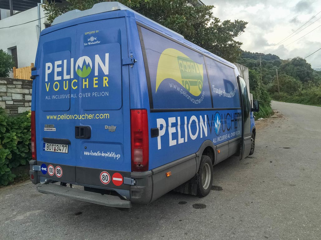 pelion shuttle service for tourists