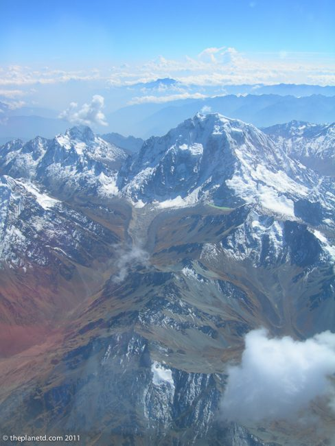 flight over andes