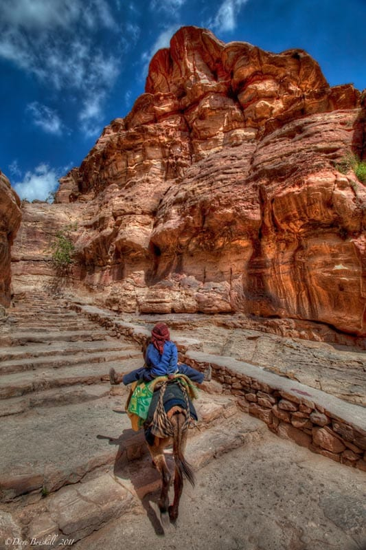 steps to the monastery of petra jordan