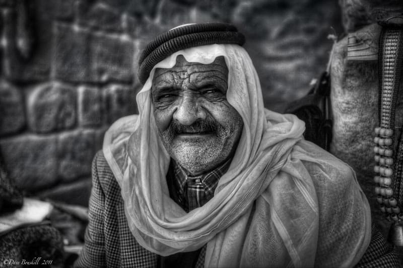 petra photograph old man