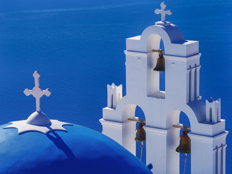 three bells of Fira santorini Photography Guide