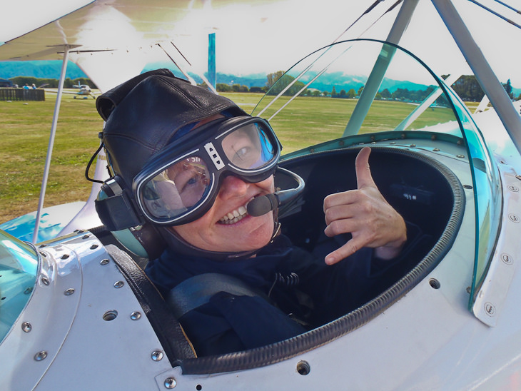 pilot stunt plane new zealand cockpit