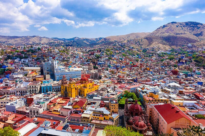 Guanajuato's colorful buildings make this city a must-visit city in Mexico