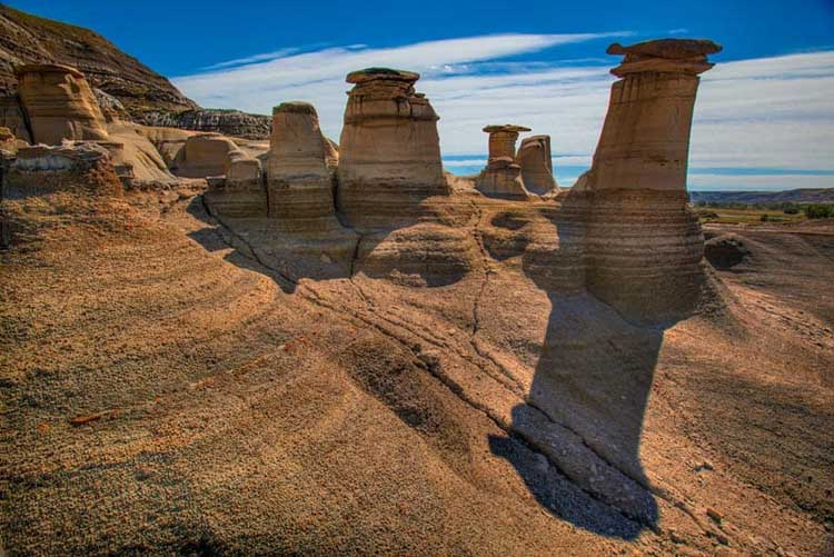 unique places to visit in alberta | hoodoos