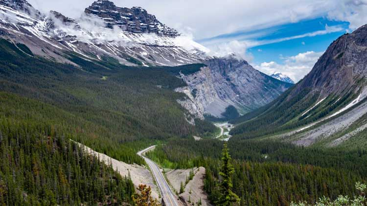 best places to drive in alberta | icefields parkway