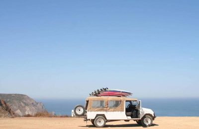 places to visit in portugal truck with surf board