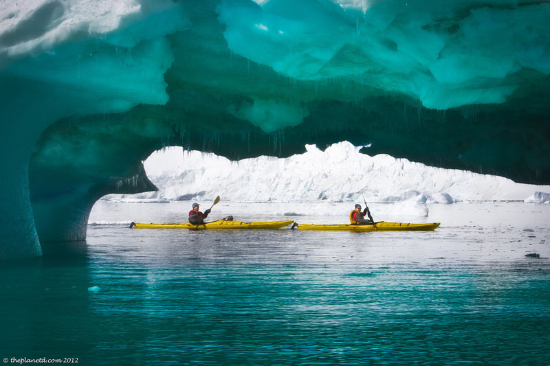 pleneau bay antarctica kayaking