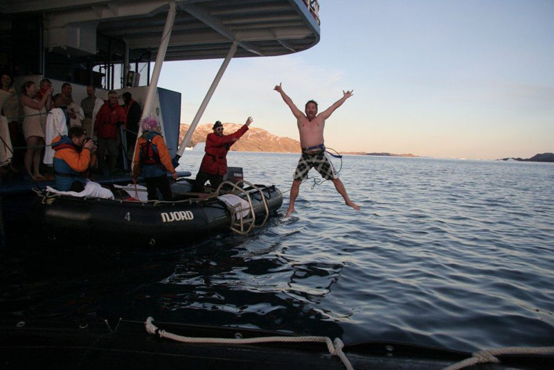 The Arctic Polar Plunge – Facing the Icy Waters of Greenland