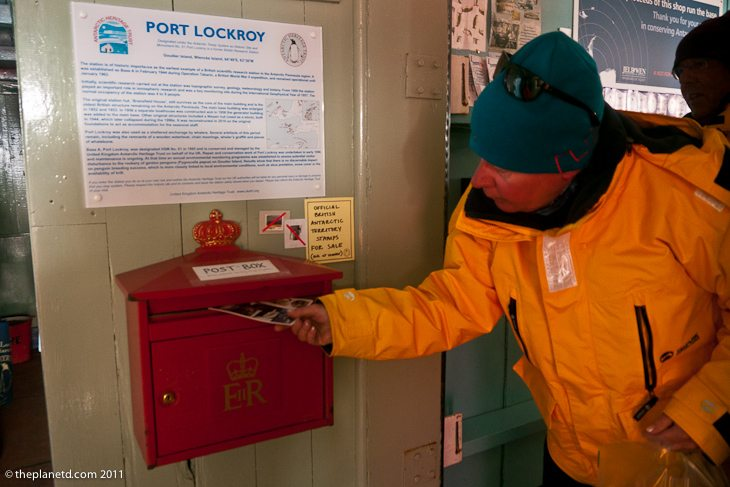 post office antarctica post box