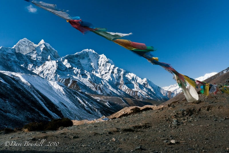 prayer flags in Himalayas