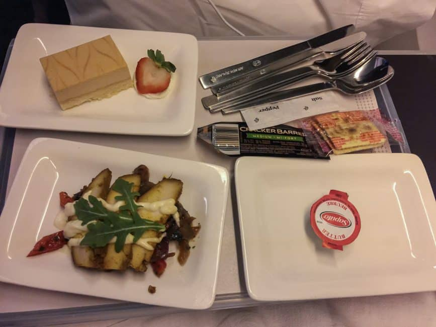 Food on Premium Economy Air New Zealand