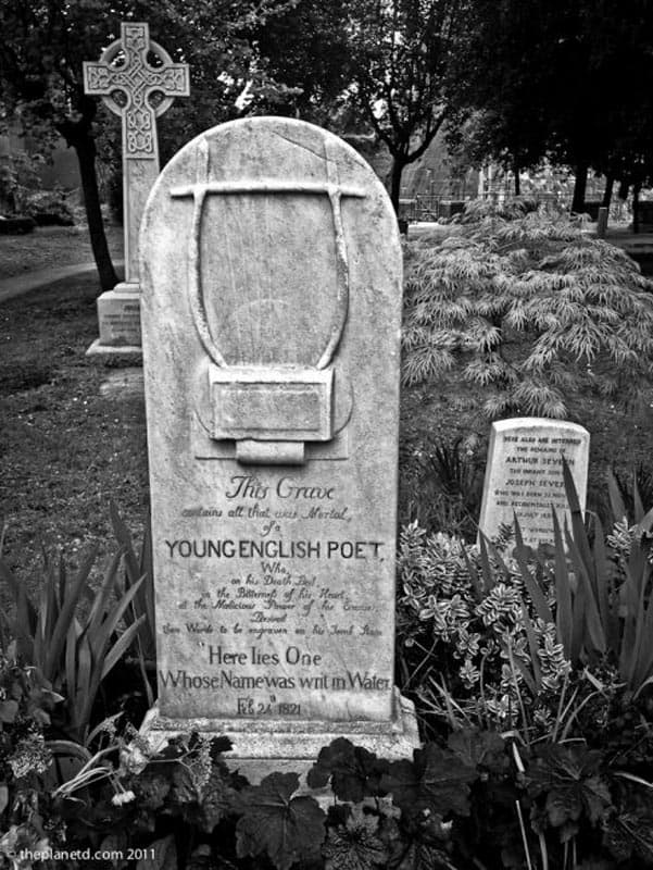 Protestant Cemetery Rome Keates tombstone