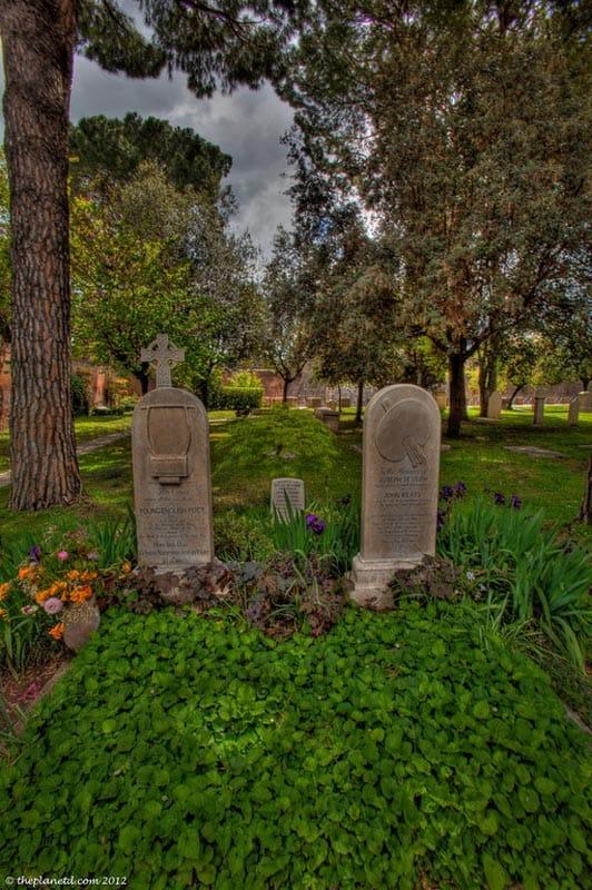 protestant cemetery rome tomb stones