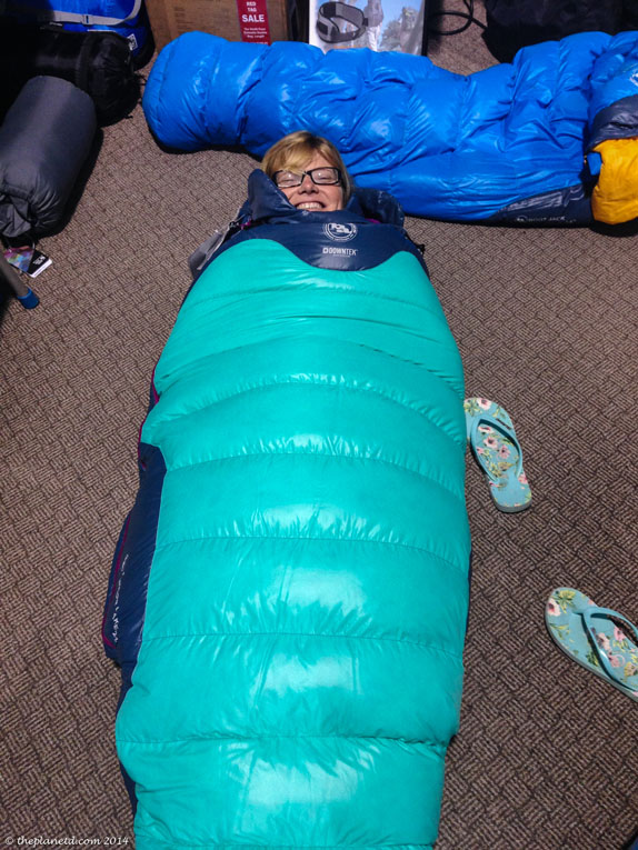 sleeping bag hike tips