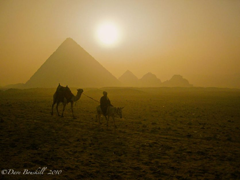 sunrise pyramids of egypt
