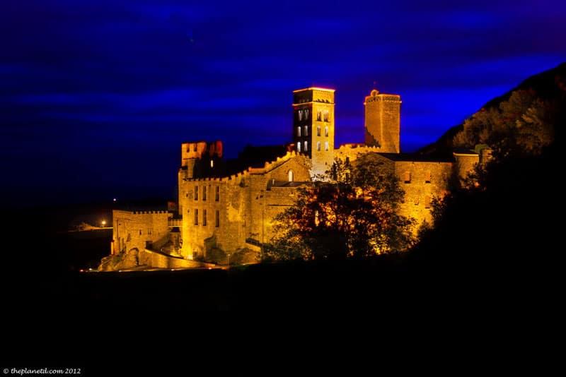 pyrenees photos church at night
