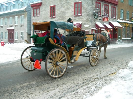 quebec city winter carriage