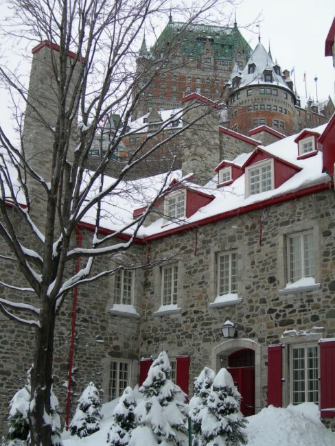 castle quebec winter