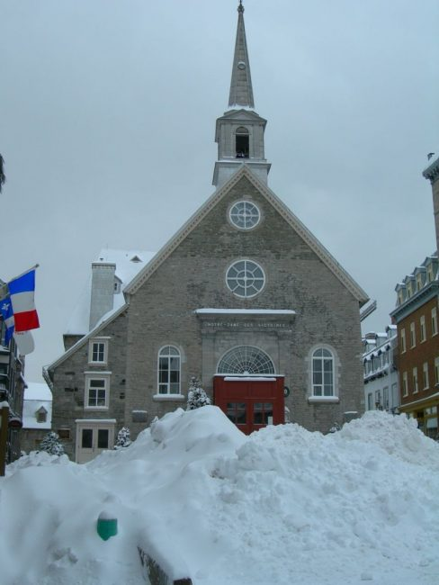 quebec city winter church