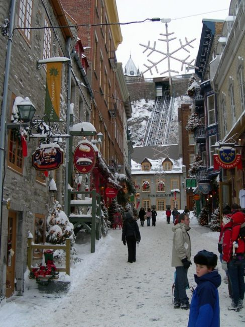 quebec city winter street