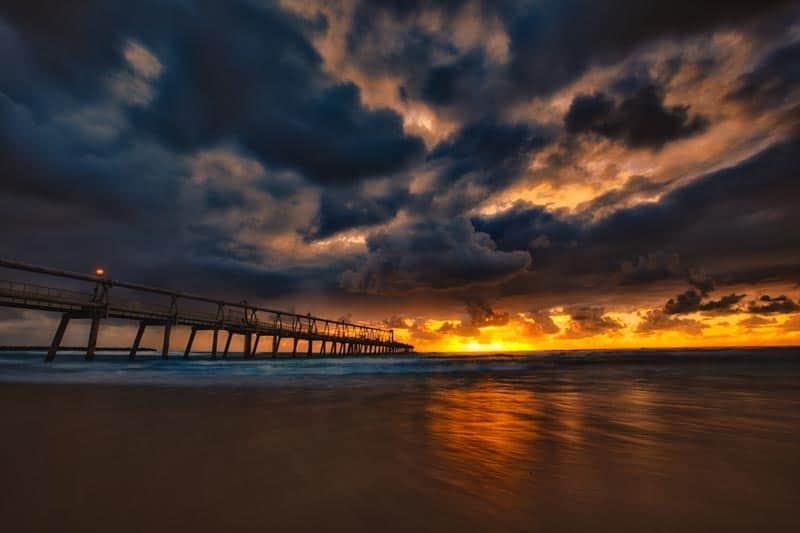 sunset pier australia
