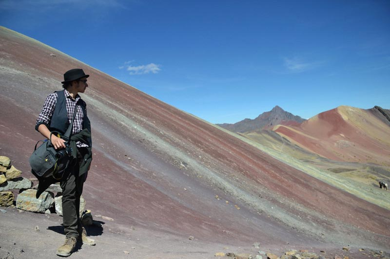 rainbow mountain peru lookout