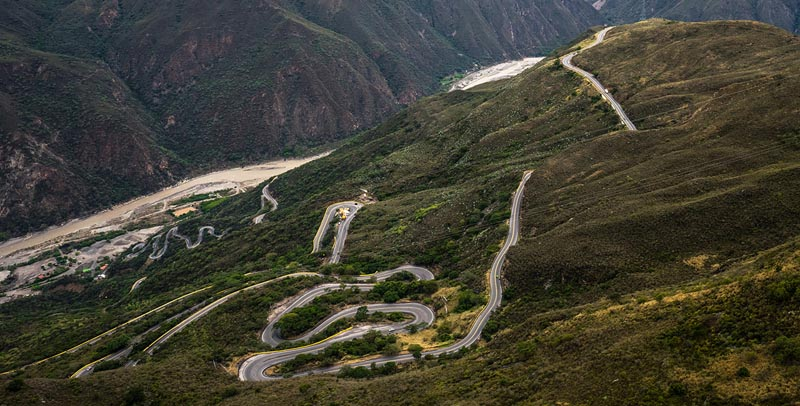 reasons to visit colombia driving dangerous roads