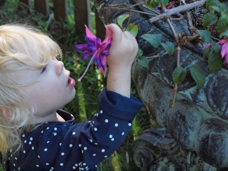rediscover family travel girl flower