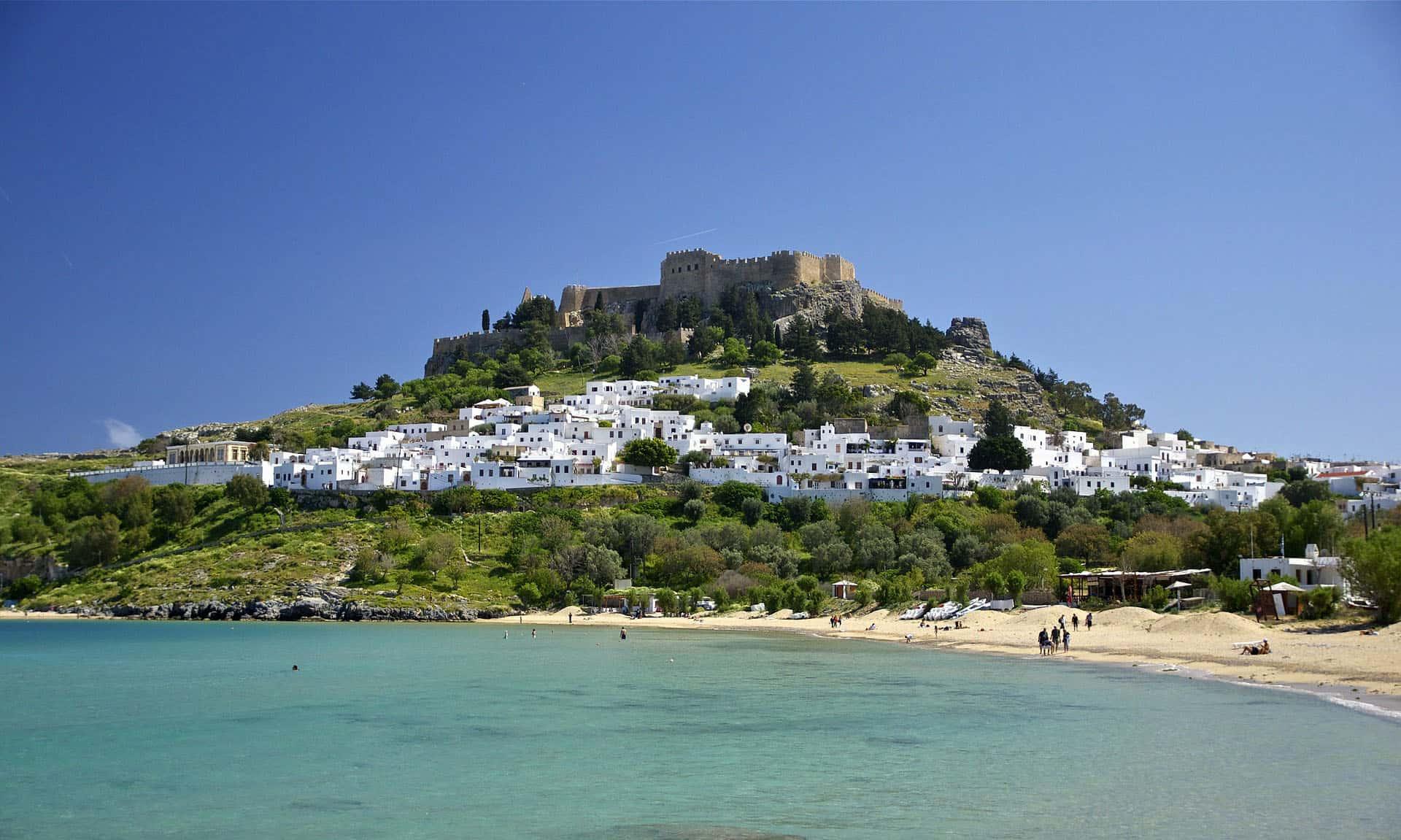 best beaches in greece - rhodes