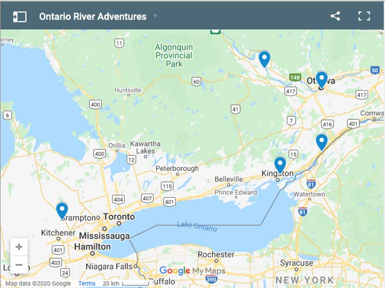 rivers to visit in Ontario