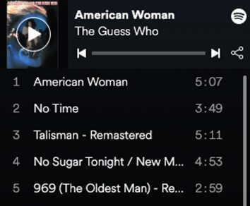 the guess who American woman