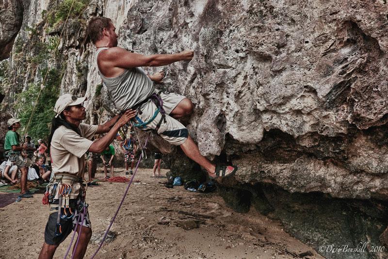 dave climbing
