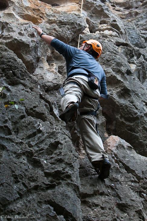 rock climbing yangshuo climber