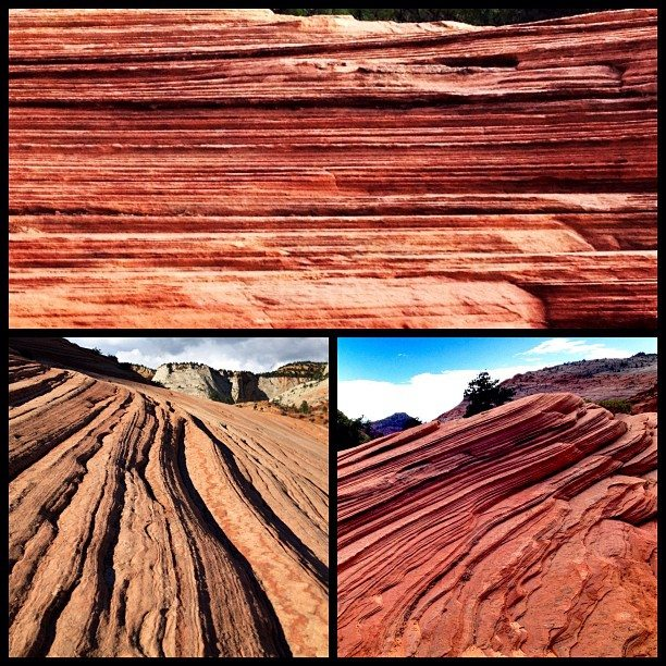 rock formations of zion captured on iphone