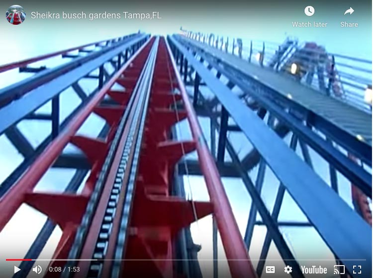 sheikra bush gardens roller coaster in florida