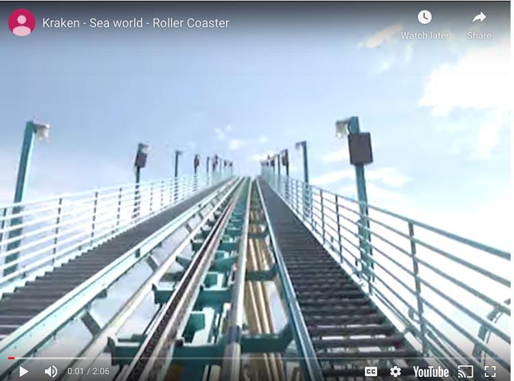 kraken florida roller coasters
