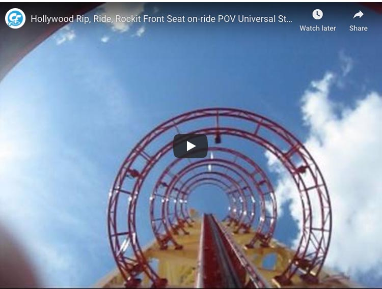 florida roller coasters | hollywood rip rocket