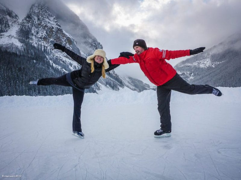 romantic ice skating what to do in banff winter