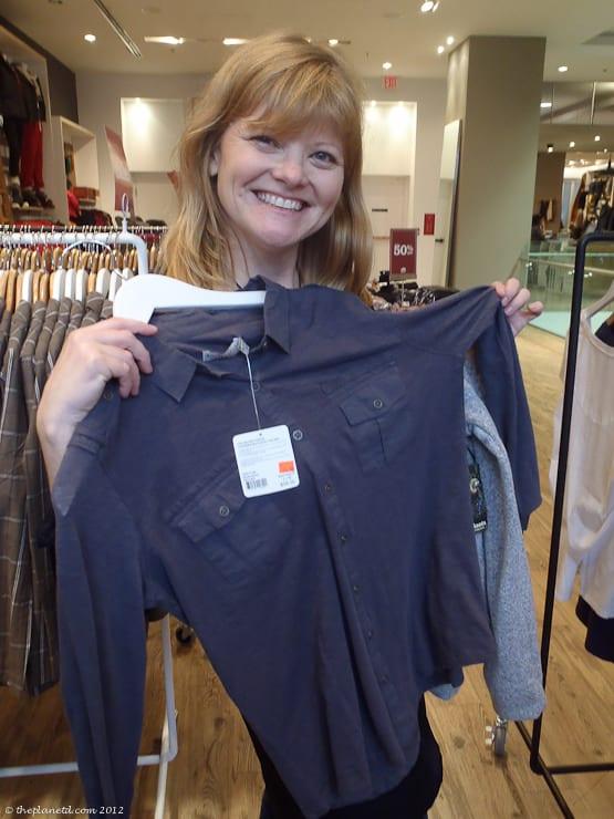 roots canada shopping shirt deb