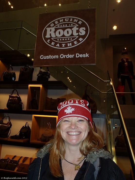 roots canada shopping deb