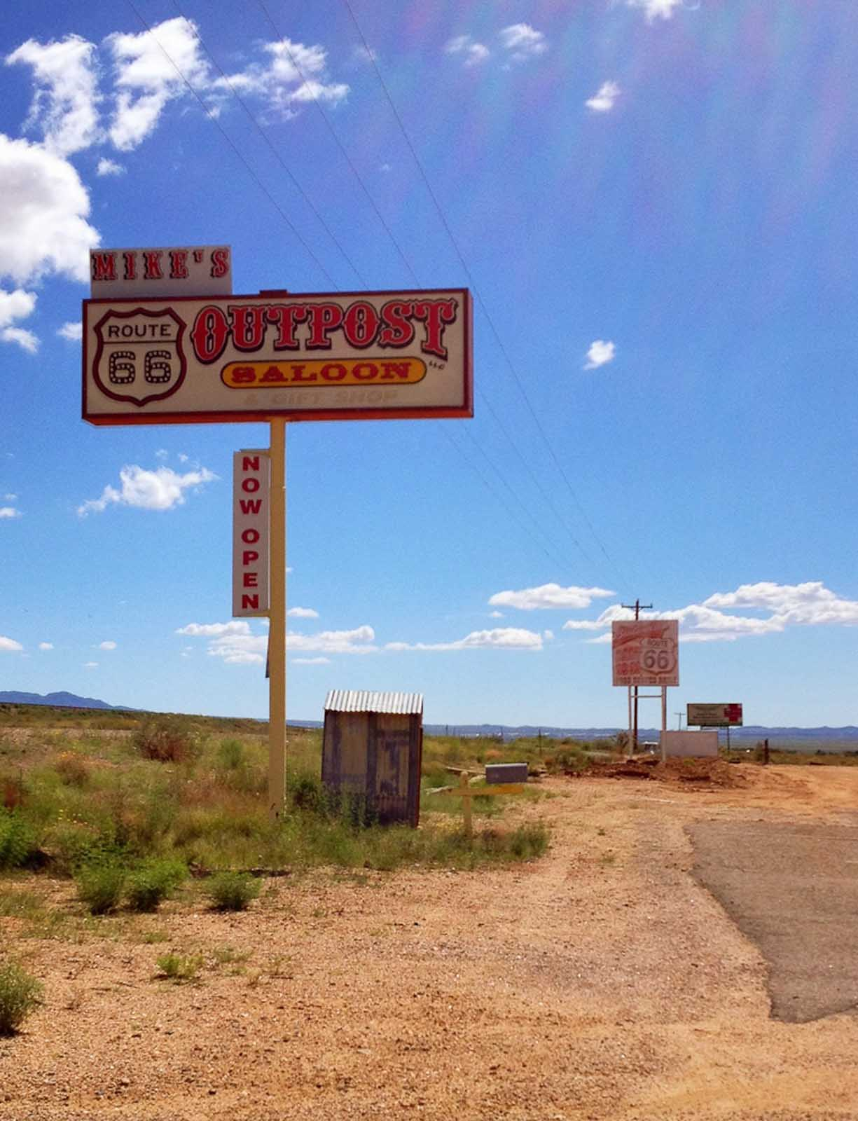 an outpost saloon on route 66
