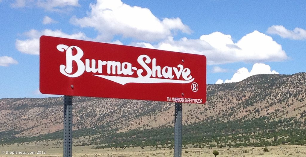 burma shave ads on Route 66