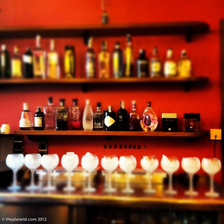 shots bar partying
