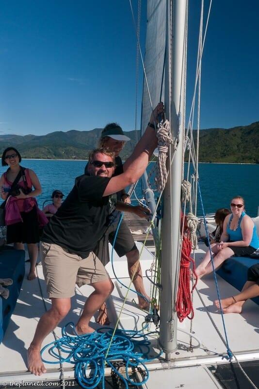 sailing Abel Tasman Dave