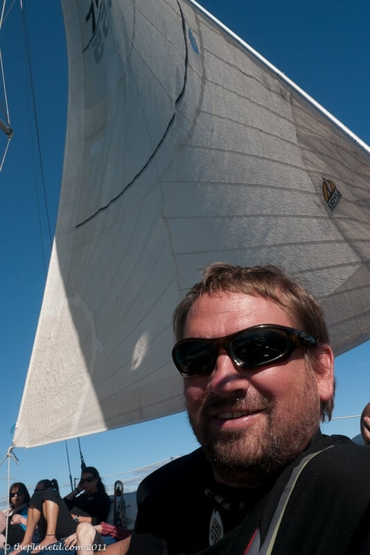 Dave sailing Abel Tasman New Zealand