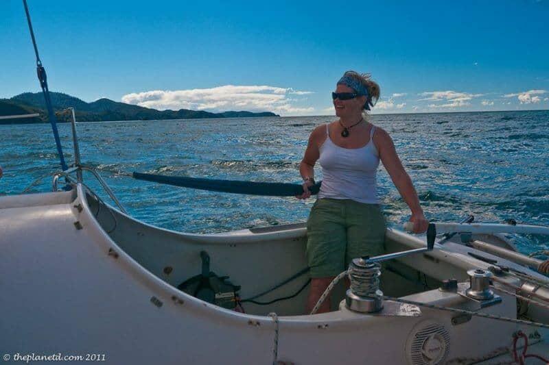 sailing Abel Tasman Deb